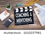 coaching and mentoring. movie... | Shutterstock . vector #1010257981