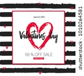 valentines day sale background ... | Shutterstock .eps vector #1010264581