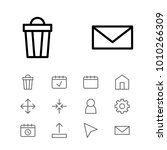 network icons set with gear ...