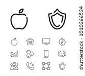 smartphone icon with honey ...
