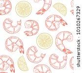 vector shrimp hand drawn sketch ... | Shutterstock .eps vector #1010267329