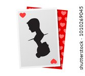 game card with silhoutte couple ...   Shutterstock .eps vector #1010269045