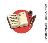 symbols of the writer... | Shutterstock .eps vector #1010274925