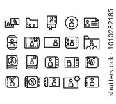 icon set contact mobile... | Shutterstock .eps vector #1010282185