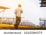 solar power plant to innovation ... | Shutterstock . vector #1010284375