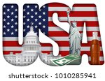Concept Illustration Of Usa...
