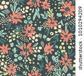 nice vector seamless flower...   Shutterstock .eps vector #1010294209