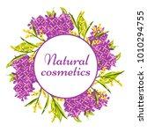 vector natural costeics label...   Shutterstock .eps vector #1010294755