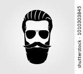 bearded men  hipster face.... | Shutterstock .eps vector #1010303845