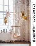 new year festive decoration ...   Shutterstock . vector #1010305525