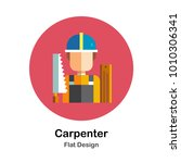 male carpenter with equipments... | Shutterstock .eps vector #1010306341