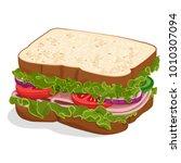 sandwich vector image | Shutterstock .eps vector #1010307094
