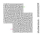 abstract maze labyrinth with...   Shutterstock .eps vector #1010310259