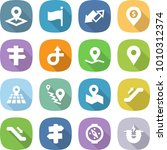 flat vector icon set   pointer... | Shutterstock .eps vector #1010312374