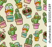 cactus seamless pattern ... | Shutterstock .eps vector #1010314189