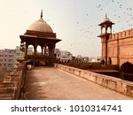 dome of jama masjid  it was... | Shutterstock . vector #1010314741