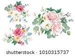 3 bouquets for decoration... | Shutterstock .eps vector #1010315737