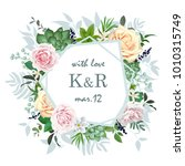 original wedding invitation... | Shutterstock .eps vector #1010315749