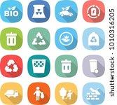 flat vector icon set   bio... | Shutterstock .eps vector #1010316205