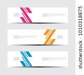 vector abstract design banner... | Shutterstock .eps vector #1010318875