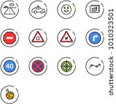 line vector icon set   runway... | Shutterstock .eps vector #1010323501