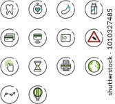 line vector icon set   tooth... | Shutterstock .eps vector #1010327485