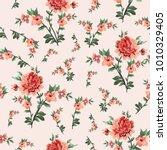 beautiful seamless flower...   Shutterstock .eps vector #1010329405