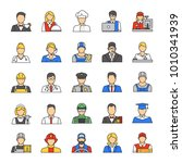 professions color icons set.... | Shutterstock . vector #1010341939