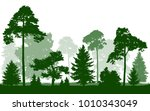 Forest Green Silhouette Vector...