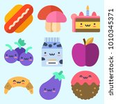 icons set about food with... | Shutterstock .eps vector #1010345371