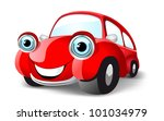 funny red car. vector... | Shutterstock . vector #101034979