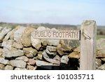 Public Footpath Signpost In...