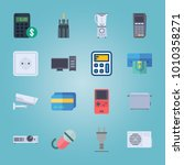 icon set about gadgets with... | Shutterstock .eps vector #1010358271
