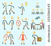 icons set about human with... | Shutterstock .eps vector #1010364145