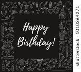 birthday square frame...   Shutterstock .eps vector #1010364271
