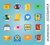 icon set about letter and paper ... | Shutterstock .eps vector #1010364919
