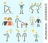 icons set about human with man  ... | Shutterstock .eps vector #1010365615