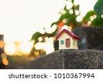 closeup miniature house on... | Shutterstock . vector #1010367994