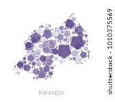 map of rwanda filled with...   Shutterstock .eps vector #1010375569