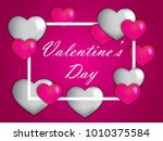 valentine's day heart and love...   Shutterstock .eps vector #1010375584