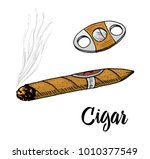 cigar or smoke  gentleman... | Shutterstock .eps vector #1010377549