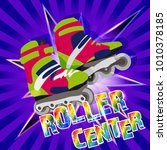 center for roller skating | Shutterstock .eps vector #1010378185