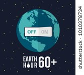 earth hour with switch turn off ... | Shutterstock .eps vector #1010378734