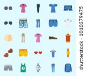 icons set about man clothes... | Shutterstock .eps vector #1010379475
