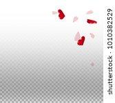 3d hearts. top right corner on... | Shutterstock .eps vector #1010382529