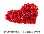 red juice pomegranate on blue... | Shutterstock . vector #1010384995