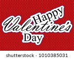 valentine's day sticker ... | Shutterstock .eps vector #1010385031