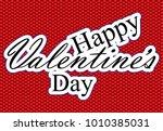valentine's day sticker ...   Shutterstock .eps vector #1010385031