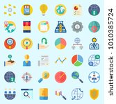 icons set about marketing with...   Shutterstock .eps vector #1010385724