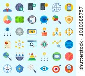 icons set about marketing with... | Shutterstock .eps vector #1010385757